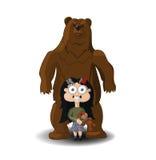 Μικρό κορίτσι και αρκούδες Στοκ Εικόνες