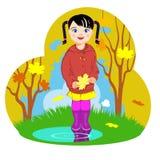 Μικρό κορίτσι και φθινόπωρο Στοκ φωτογραφία με δικαίωμα ελεύθερης χρήσης