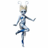 Μικρό κορίτσι με τα κέρατα χορεύοντας 2 Στοκ φωτογραφία με δικαίωμα ελεύθερης χρήσης