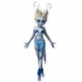 Μικρό κορίτσι με τα κέρατα χορεύοντας 5 διανυσματική απεικόνιση