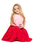 Μικρό κορίτσι με τα μαγικά όνειρα σφαιρών Στοκ Φωτογραφίες
