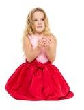 Μικρό κορίτσι με τα μαγικά όνειρα σφαιρών Στοκ φωτογραφία με δικαίωμα ελεύθερης χρήσης