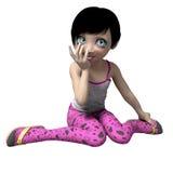 Μικρό κορίτσι με τα μεγάλα μάτια giggle Στοκ Εικόνες