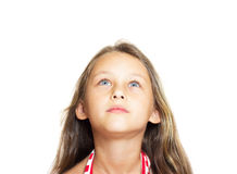 Μικρό κορίτσι με τα μπλε μάτια Στοκ Εικόνα