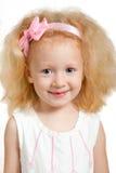 Μικρό κορίτσι με τα ξανθά μαλλιά Στοκ Εικόνες