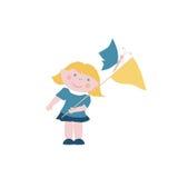 Μικρό κορίτσι με τις πεταλούδες Στοκ εικόνα με δικαίωμα ελεύθερης χρήσης
