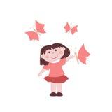 Μικρό κορίτσι με τις πεταλούδες Στοκ εικόνες με δικαίωμα ελεύθερης χρήσης