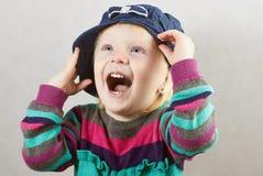 Μικρό κορίτσι με το ανοικτό στόμα Στοκ Φωτογραφίες