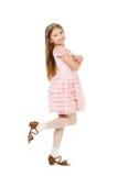 Μικρό κορίτσι με diadem που απομονώνεται στοκ εικόνες