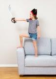 Μικρό κορίτσι πειρατών Στοκ εικόνες με δικαίωμα ελεύθερης χρήσης