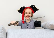 Μικρό κορίτσι πειρατών Στοκ Φωτογραφίες