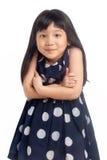 Μικρό κορίτσι που απομονώνεται ουπς Στοκ Φωτογραφία