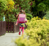 Μικρό κορίτσι που οργανώνεται στο σχολείο Στοκ εικόνα με δικαίωμα ελεύθερης χρήσης