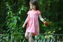 Μικρό κορίτσι που περπατά εμπρός Στοκ φωτογραφίες με δικαίωμα ελεύθερης χρήσης