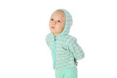 Μικρό κορίτσι σε μια κουκούλα Στοκ εικόνες με δικαίωμα ελεύθερης χρήσης