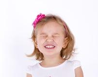 Μικρό κορίτσι στενό επάνω έντονα Στοκ Εικόνες