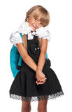 Μικρό κορίτσι στη σχολική στολή Στοκ φωτογραφία με δικαίωμα ελεύθερης χρήσης