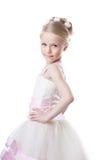 Μικρό κορίτσι στο όμορφο φόρεμα στοκ εικόνα με δικαίωμα ελεύθερης χρήσης
