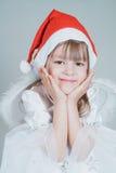 Μικρό κορίτσι Χριστουγέννων στοκ εικόνες