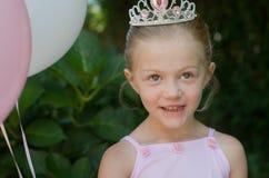 Μικρό κορίτσι ως πριγκήπισσα μπαλέτου παραμυθιού Στοκ Εικόνες