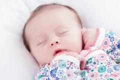 Μικρό κορίτσι ύπνου στοκ εικόνα