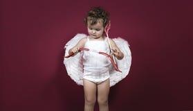 Μικρό κορίτσι Cupid στοκ εικόνα