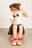 Μικρό κορίτσι nerd Στοκ Εικόνες
