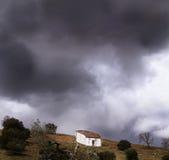 μικρό κορυφαίο χωριό όψης σπιτιών στοκ φωτογραφία