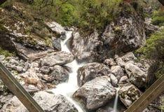 Μικρό μέρος του καταρράκτη kanchenjunga στα Ιμαλάια Στοκ Εικόνα