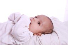 Μικρό μωρό που τρώει το χέρι Στοκ φωτογραφία με δικαίωμα ελεύθερης χρήσης