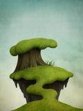 Μικρό νησί στο δέντρο ελεύθερη απεικόνιση δικαιώματος