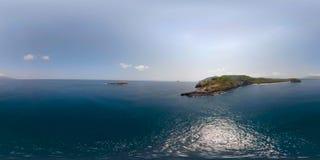 Μικρό νησί στο ωκεάνιο vr360 απόθεμα βίντεο