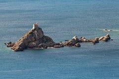 Μικρό νησί Sveta Nedjelja στο Μαυροβούνιο Στοκ Εικόνα