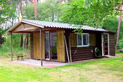 Μικρό ξύλινο δάσος σπιτιών, Κάτω Χώρες Στοκ Φωτογραφία