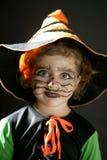 μικρό παιδί αποκριών κοριτ&sig Στοκ Φωτογραφίες