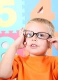 μικρό παιδί γυαλιών Στοκ Φωτογραφία