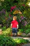 μικρό παιδί κήπων στοκ εικόνες με δικαίωμα ελεύθερης χρήσης