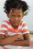 μικρό παιδί κοριτσιών αφρο&al Στοκ εικόνα με δικαίωμα ελεύθερης χρήσης