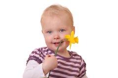 μικρό παιδί λουλουδιών Στοκ φωτογραφία με δικαίωμα ελεύθερης χρήσης