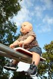 μικρό παιδί πάρκων στοκ φωτογραφία με δικαίωμα ελεύθερης χρήσης