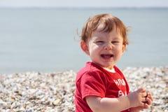 μικρό παιδί παραλιών Στοκ Φωτογραφία