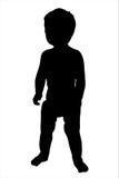 μικρό παιδί σκιαγραφιών απ&epsil Στοκ φωτογραφίες με δικαίωμα ελεύθερης χρήσης
