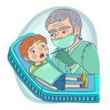 Μικρό παιδί στην υποδοχή ενός οδοντιάτρου στοκ εικόνα με δικαίωμα ελεύθερης χρήσης