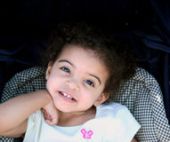 μικρό παιδί χαμόγελου κοριτσιών στοκ εικόνες