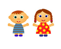 Μικρό παιδί και κορίτσι Στοκ Φωτογραφία