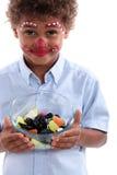 Μικρό παιδί με την καραμέλα Στοκ Φωτογραφίες