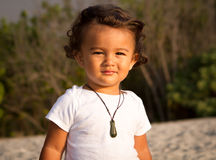 Μικρό παιδί νησιών του Ειρηνικού στοκ εικόνες