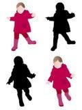 Μικρό παιδί που φορά το αδιάβροχο Στοκ φωτογραφία με δικαίωμα ελεύθερης χρήσης