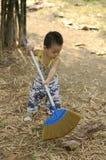Μικρό παιδί στη δράση Στοκ φωτογραφία με δικαίωμα ελεύθερης χρήσης