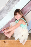 Μικρό παιδί Brunette στοκ εικόνες